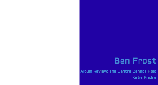 Music Review: Ben Frost