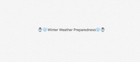 Winter Weather Preparedness