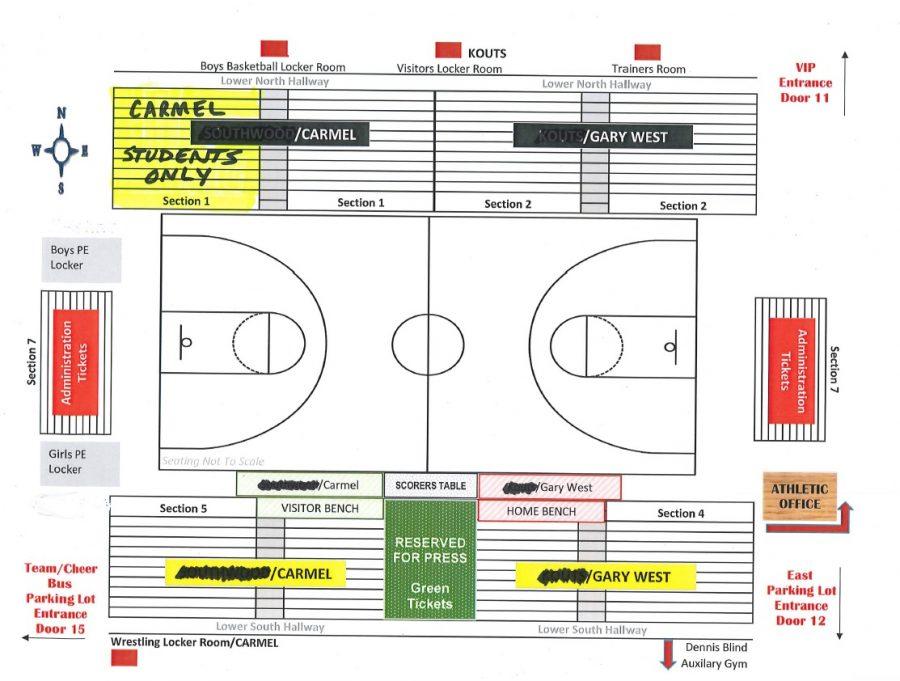 Blog Post #46 - Seating for Semi-State Carmel Basketball